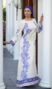 Bridge Formal Modest Maxi Dress Kaftan - Cream