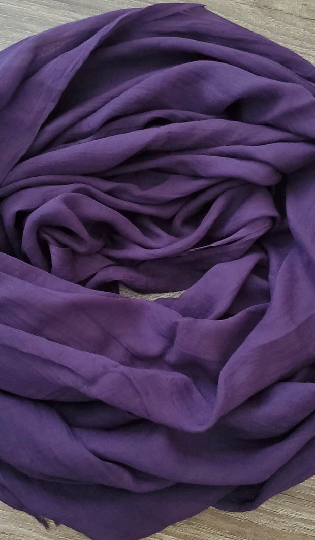 Celebrity Lightweight Non-Slip Extra Large Wrap Hijab - Purple