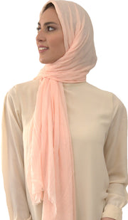 Celebrity Lightweight Non-Slip Extra Large Wrap Hijab - Peach