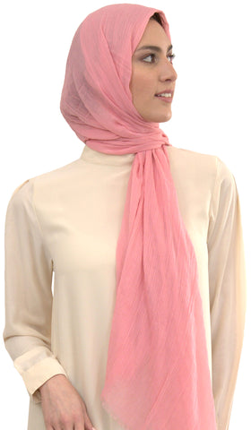 Celebrity Lightweight Non-Slip Extra Large Wrap Hijab - Rose