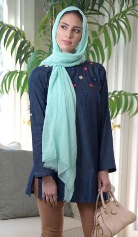 Celebrity Lightweight Oblong Extra Large Wrap Hijab - Mint