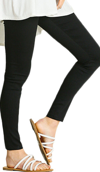 Comfortable Stretch Mostly Cotton Jeggings - Black - ARTIZARA.COM