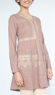 Darvi-modest-embroidered-tunic-mocha-1