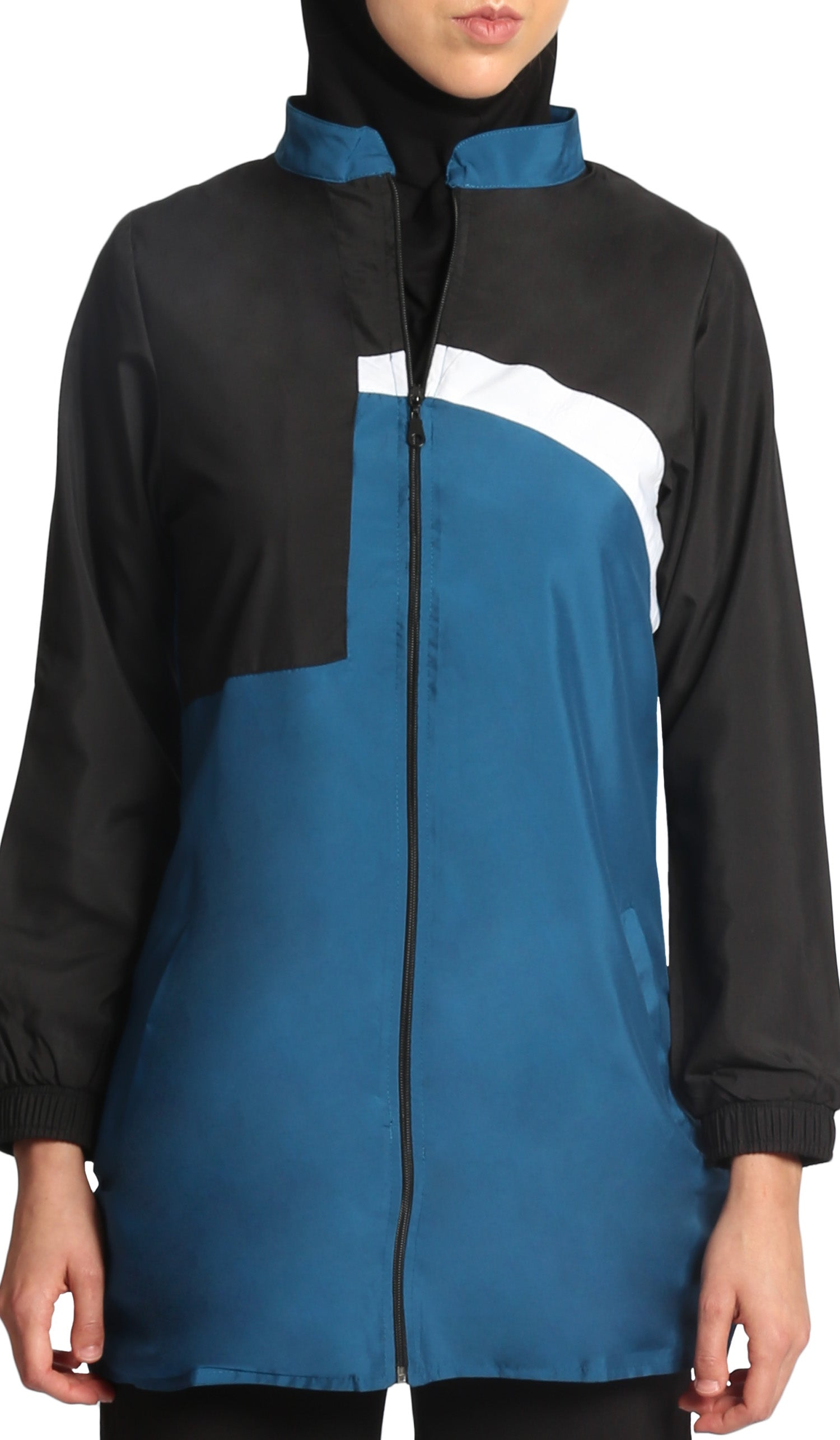 Elian Long Modest Sport Jacket - Blue/Black