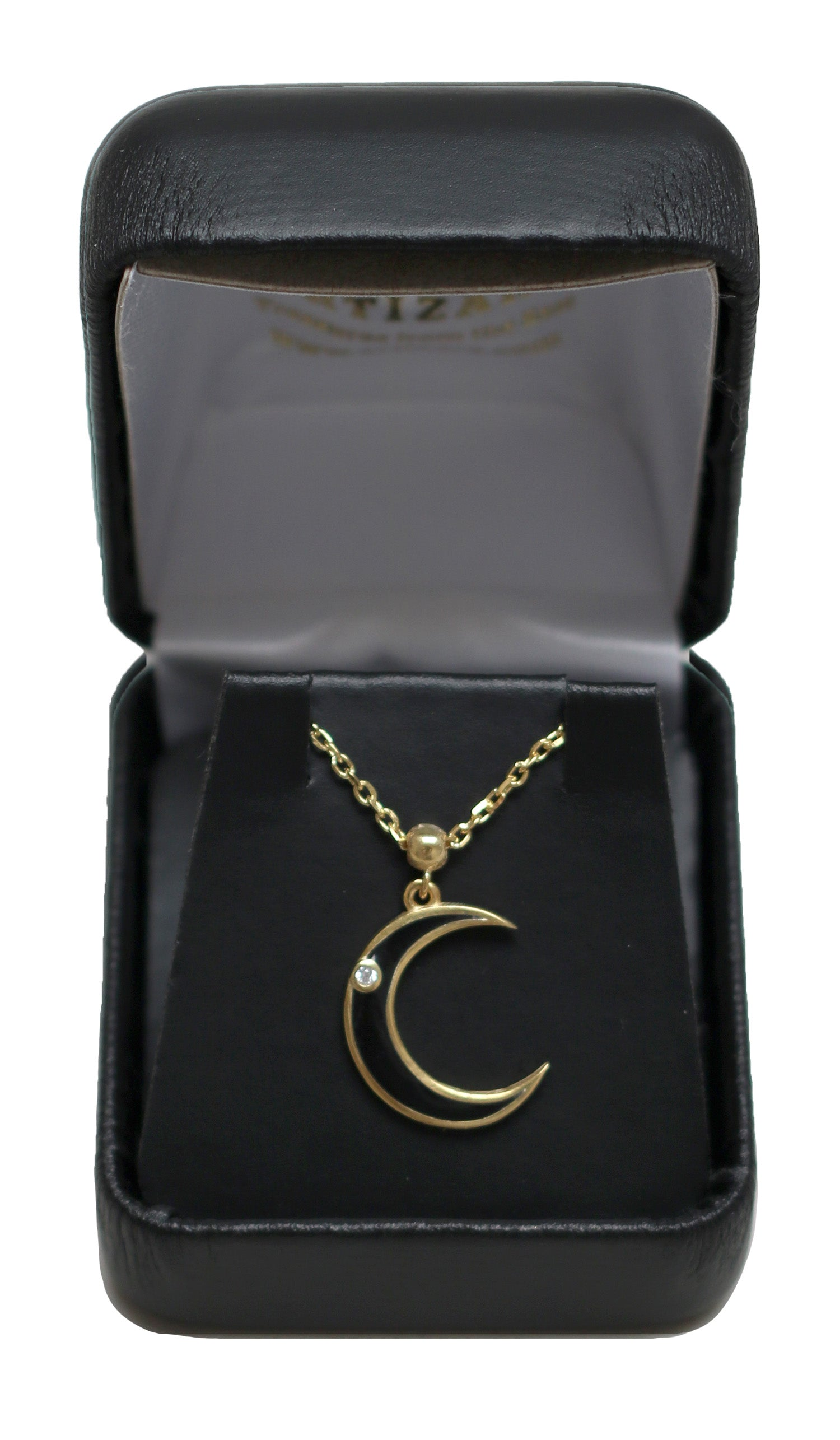 Goldplated Sterling Silver Crescent Moon Necklace