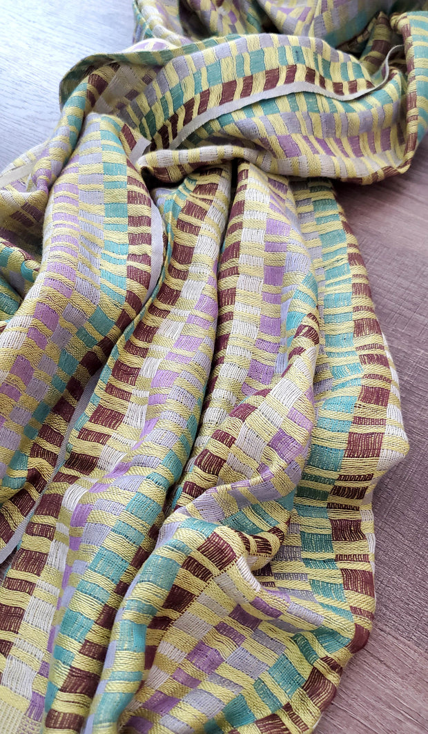 Green, Purple and Brown Wrap Hijab