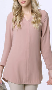Hena Long Modest Everyday Tunic - Dusty Rose