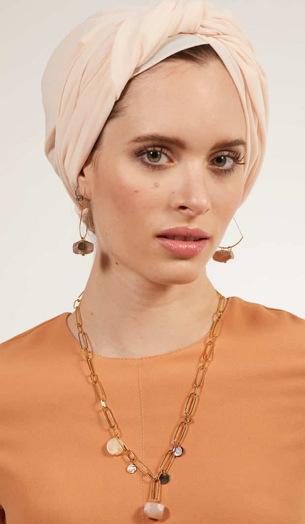 Hera Modern MashAllah Arabic Earrings-Moonstone