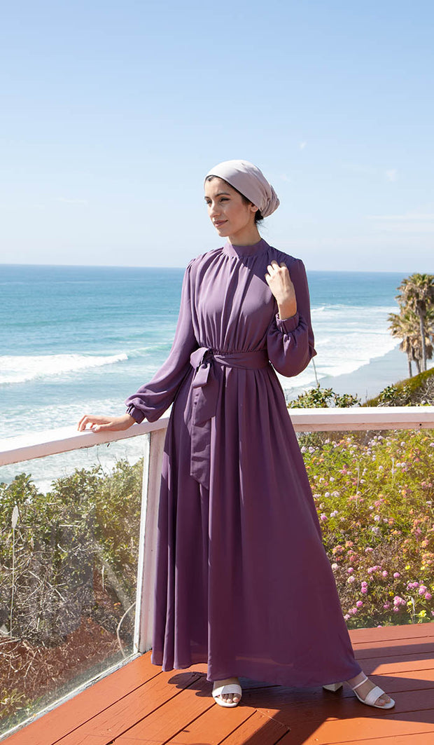 Leyla Modest Abaya Maxi Dress - Violet