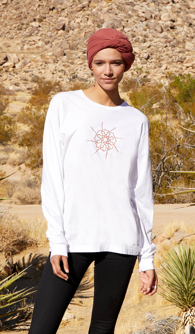 Long Sleeve Unisex T Shirt - Prism - White