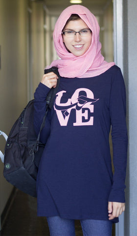 Love Designer Long Tee - Navy