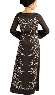Love Formal Modest Maxi Dress Kaftan - Black