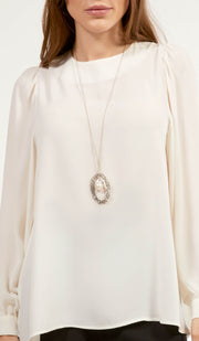 Luna Essential Layering Blouse - Ivory