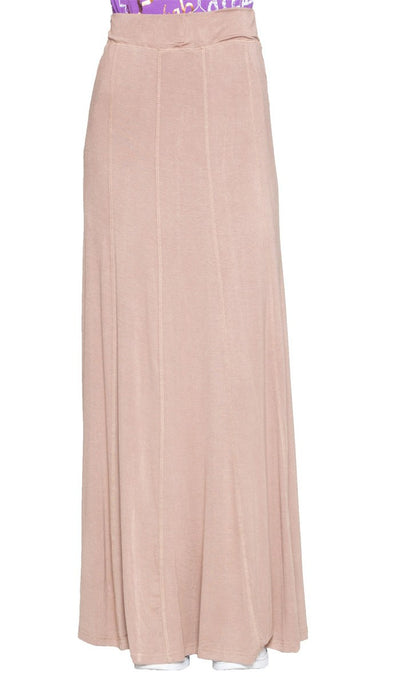 Marie Stretch Flared Maxi Skirt - Mocha - ARTIZARA.COM