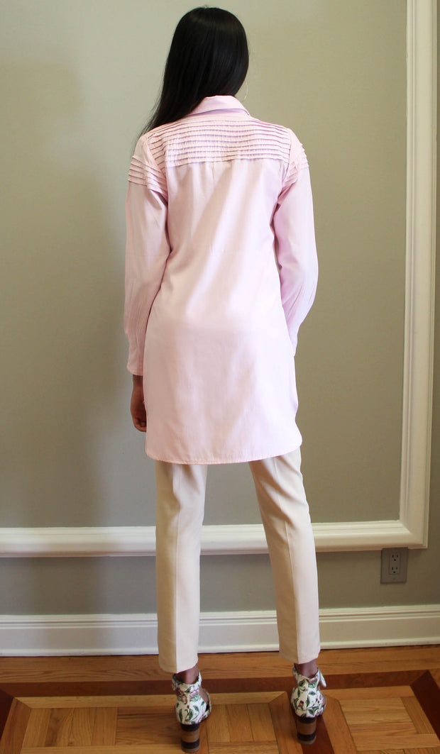 Melva Cotton Buttondown Dress Shirt - Blush Pink