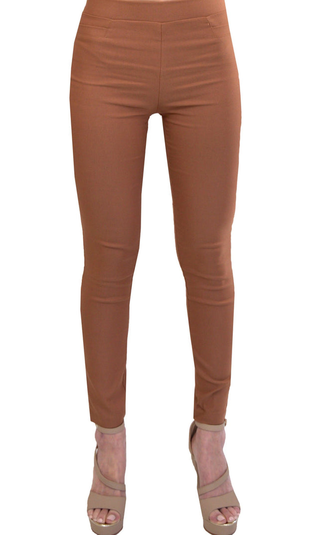 Millenium Comfortable Stretch Dressy Pencil Jegging- Camel