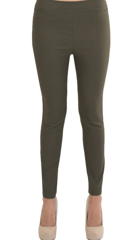 Millenium Comfortable Stretch Dressy Pencil Jegging- Olive