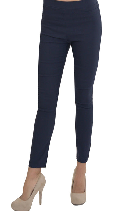 Millenium Comfortable Stretch Dressy Pencil Jegging - Dark Blue
