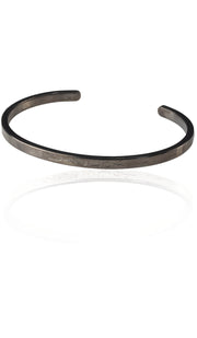 Modern Sterling Silver 99 Names Stacking Bracelet - Antique Black