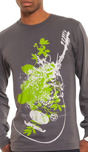 """Music of the Heart"" Mens Long Sleeve Designer Islamic Tee - ARTIZARA.COM"