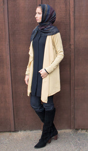 Sasha Pale Gold Knit Cardigan
