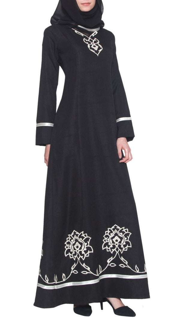 Noor Long Sleeve Modest Muslim Formal Evening Dress - Black - ARTIZARA.COM