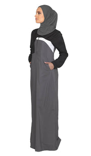 One Piece Stretch Sports Hijab - Charcoal
