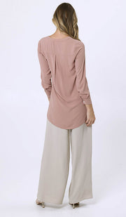 Parisa Long Modest Everyday Tunic - Dusty Rose