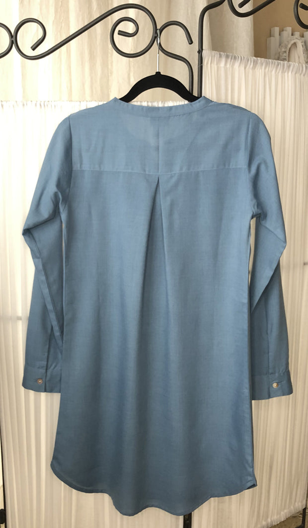 Parisa Long Modest Everyday Tunic - Marina Blue