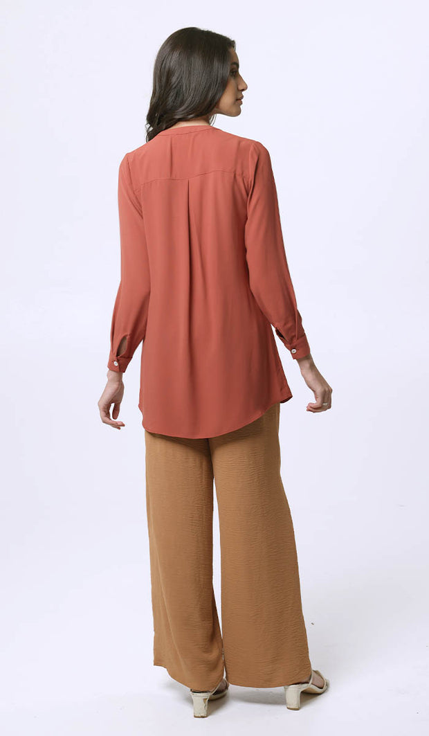 Parisa Long Modest Everyday Tunic - Spice