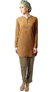 Parisa Long Modest Everyday Tunic - Saffron