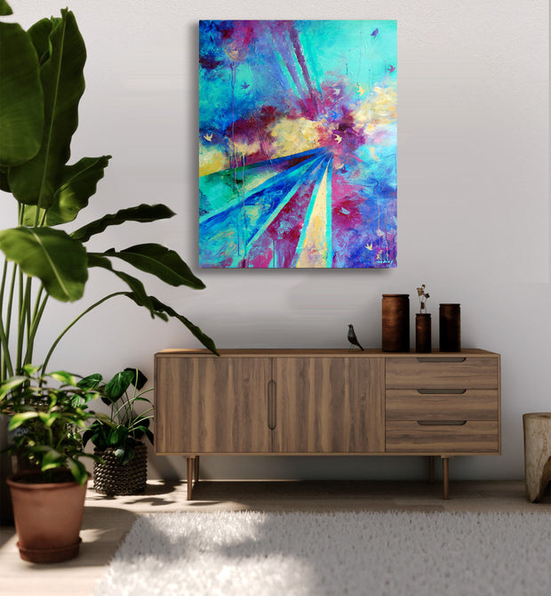 Reach Beyond Rise Mounted Ready to Hang Canvas Art