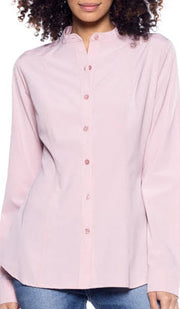 Ayn Shaped Button Down Dress Shirt - Dusty Rose