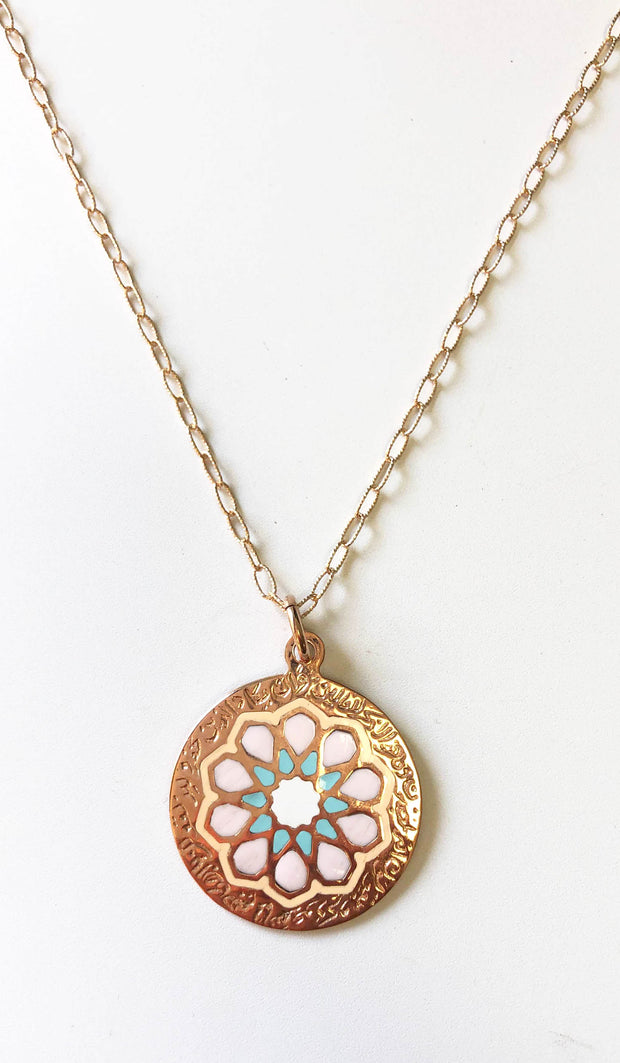 Rose Gold plated Sterling Silver Evil Eye Nazar Necklace
