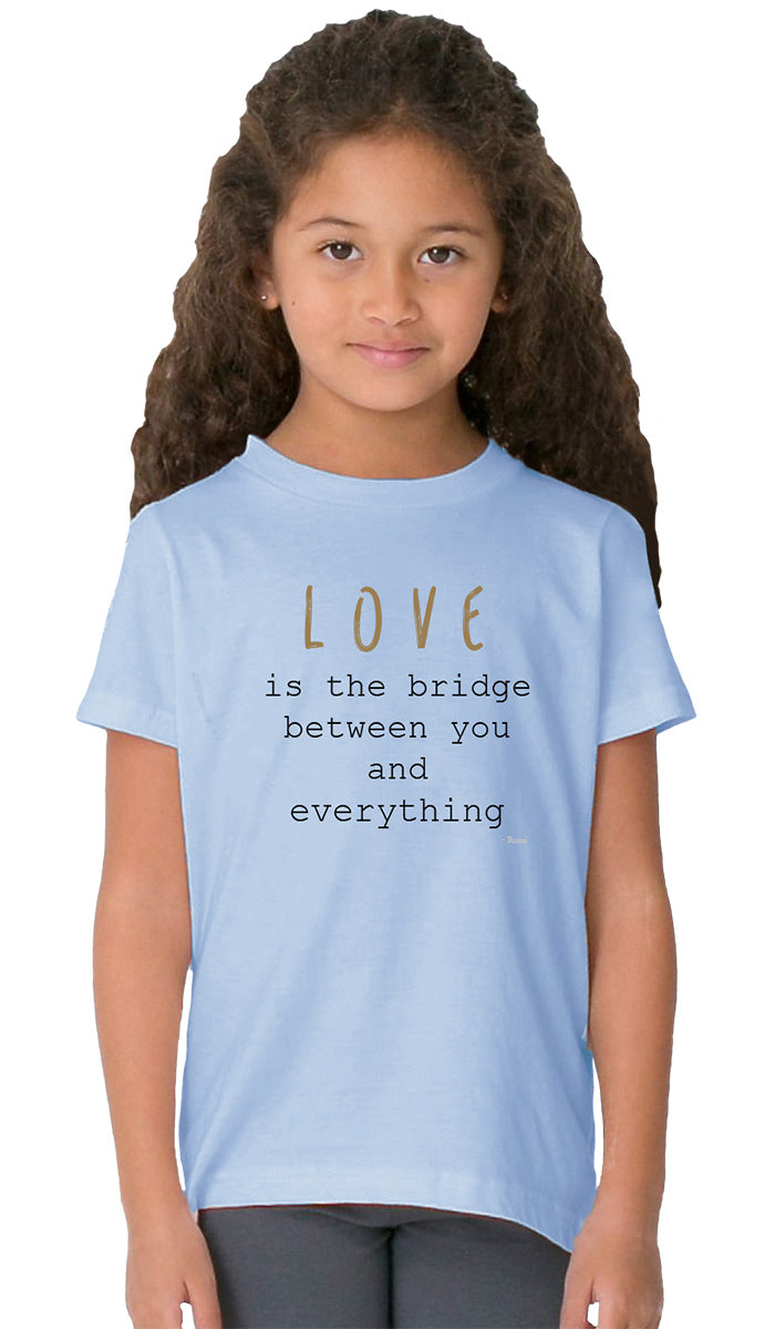 Rumi Quotes Fine Short Sleeve Kids T Shirt - Bridge - Light Blue