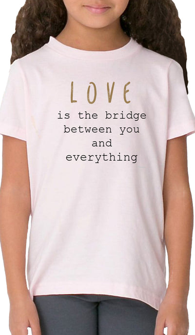 Rumi Quotes Fine Short Sleeve Kids T Shirt - Bridge - Light Pink
