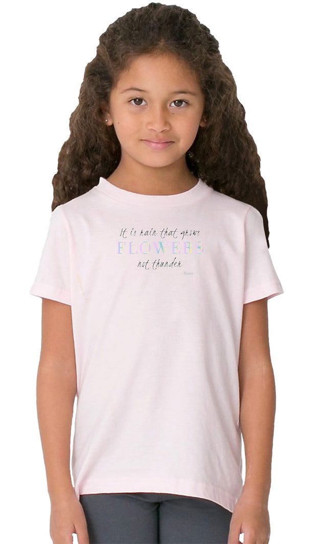 Rumi Quotes Fine Short Sleeve Kids T Shirt - Flowers - Light Pink