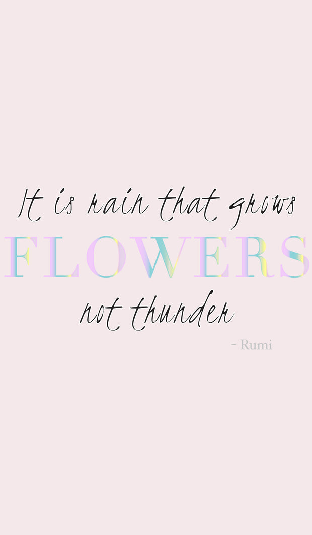 Rumi Quotes Fine Short Sleeve Youth T Shirt - Flowers - Light Pink