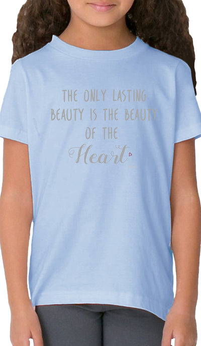 Rumi Quotes Fine Short Sleeve Kids T Shirt - Heart - Light Blue
