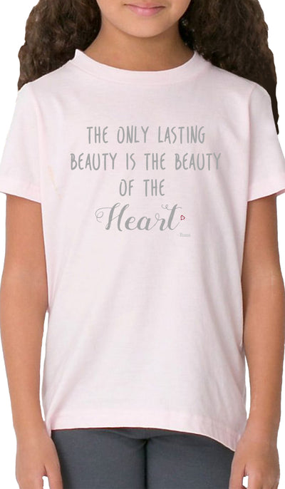 Rumi Quotes Fine Short Sleeve Kids T Shirt - Heart - Light Pink