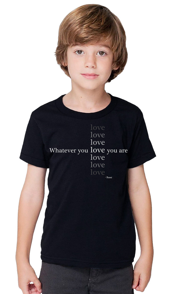 Rumi Quotes Fine Short Sleeve Kids T Shirt - Love - Black