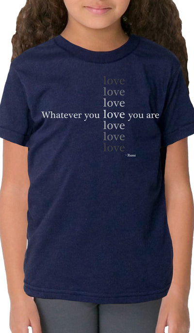 Rumi Quotes Fine Short Sleeve Kids T Shirt - Love - Navy Blue