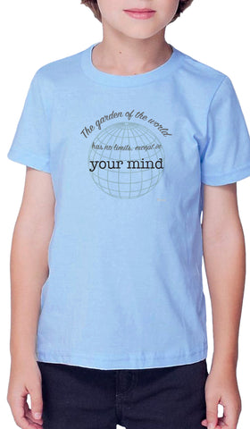 Rumi Quotes Fine Short Sleeve Kids T Shirt - Mind - Light Blue
