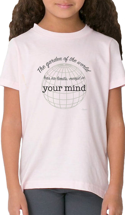 Rumi Quotes Fine Short Sleeve Kids T Shirt - Mind - Light Pink