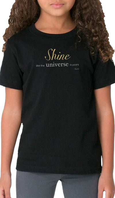 Rumi Quotes Fine Short Sleeve Kids T Shirt - Shine - Black