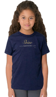 Rumi Quotes Fine Short Sleeve Kids T Shirt - Shine - Navy Blue