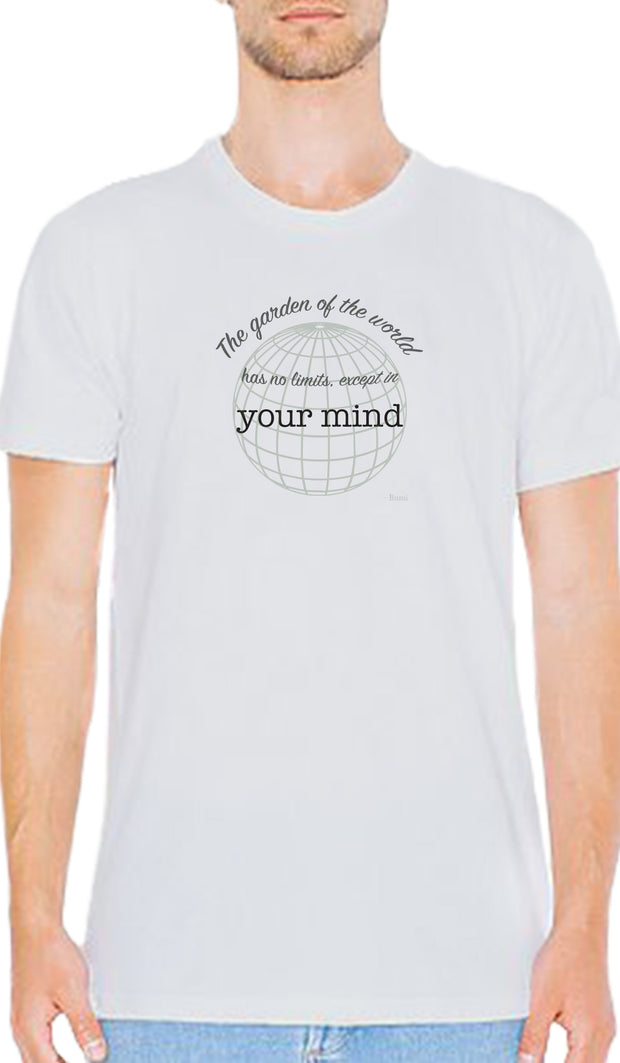 Rumi Quotes Fine Short Sleeve Unisex T Shirt -  Mind - No Limits