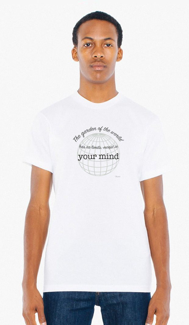 Rumi Quotes Fine Short Sleeve Unisex T Shirt -  No Limits - White