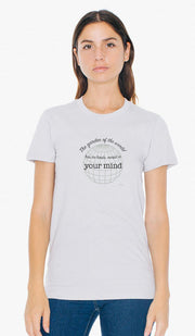 Rumi Quotes Fine Short Sleeve Unisex T Shirt -  No Limits - Light Gray