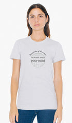 Rumi Quotes Fine Short Sleeve Unisex T Shirt -  Mind - Gray